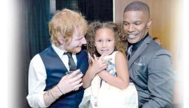 Ed Sheeran, Jamie Foxx and his daughter