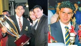 Past winners of the Observer Schoolboy Cricketer : Gihan Rupasinghe, Nalanda College Schoolboy Cricketer Award winner 2006 and Malith Gunetilleke, Ananda College Schoolboy Cricketer Award winner 2007