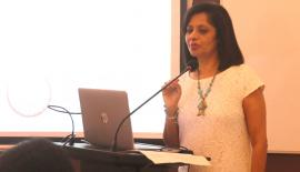 Parveen Dassenaike, Managing Director United Ventures making the presentation