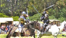 Jousting  at the Golden Gate Renaissance fair San Francisco, California. Wikimiedia