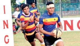 Thurstan College's Kavishka Wanniarachchi makes a break during their match against Prince of  Wales College