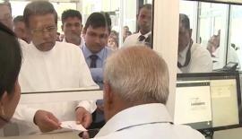 President Maithripala Sirisena launched the Hospital Health Information Management System at the Galgamuwa Base Hospital recently.