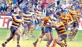 Peterite Rukshan Madushanka slams through the DS Senanayake defence