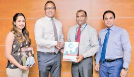 From left: Marketing Manager, NCE, Maheshini Senanayake,  Secretary General, NCE, Shiham Marikar, Deputy General Manager (SME) of HNB, Jude Fernando, and Senior Manager (SME) Business Development of HNB, Niluka Amerasinghe at the signing of the agreement