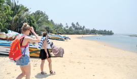 Tourists at a beach.    File pic: Lake House Media Library