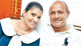 Head of Sri Lanka women's cricket, Apsari Tillakaratne with her husband and former Sri Lanka captain Hashan Tillakaratne