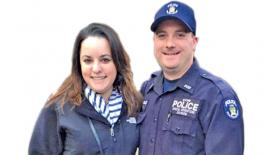 NYPD Officer Michael Colangelo (right) and his wife Katherine Berger.                                                                         NYPD Officer Michael Colangelo (right) and his wife Katherine Berger.- Facebook