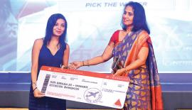 Director, MTV, Shanthi Bagiratharan with a winner