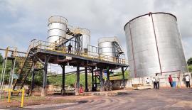 Bitumen loading terminal at the Sapugaskanda Oil Refinery
