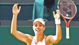 Kerber celebrates victory