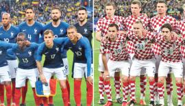 France team members and Croatia team members