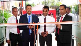 Deputy General Manager, Operations, Dinusha Ihalalanda,  Assistant General Manager, Operations, Maheel Kuragama, Senior Regional  Manager, Janaka Mohotty and Manager, Habaraduwa Branch, Niroshan  Karunaratne at the opening of the branch.