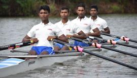 The four rowers Budhika Chaturanga, Tharanga Rupasinghe, Sugath Senarathne and Udara Udawaththa  earmarked for an Asian medal