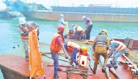 Port City team took measures to provide first aid and medical attention to the fishermen