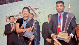 Best Sales Person of Personal Lines Ms. Nimeshi Dishala Happuarachchi and the Best Sales Person of Corporate Lines Prabath Silva.