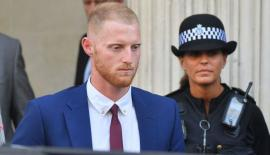 England cricketer Ben Stokes is escorted to court