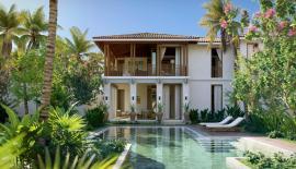 Eduard Hempel, Trevor Morgan, Anita Ricquier – Financier, Trust Singapore, Darlene Smyth and Warren from A D Lab Singapore and a view of one of the Villas.