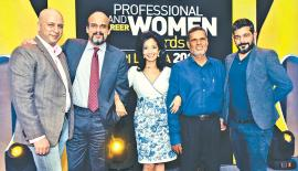 Chairperson Headlines PR, Anusha David with Manager Headlines PR, Upul Wijenaike, CEO Interbrand Sri Lanka, Michel Nugawela, Senior Client Director Interbrand India, Ameya Kapnadak and Associate Director Interbrand India, Rahul Bansal.