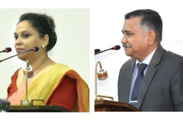 UNDP Technical Consultant, Chamindry Saparamadu-Secretary of the Ministry of Mass Media, Sunil Samaraweera