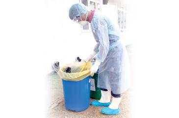 Disposing of waste at the facility