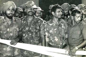 A group of IPKF soldiers in Sri Lanka. Pic: Lake House Media Library