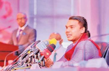 Sports Minister Namal Rajapaksa