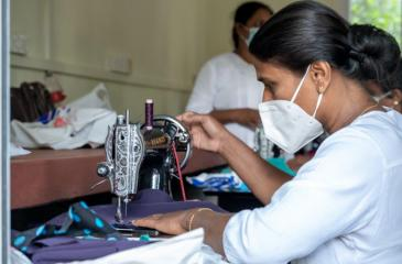 Dressmaking, cookery, and beauty culture courses are conducted at the Centre to empower women to pursue self-employment opportunities.