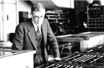 Vannevar Bush with his Differential Analyzer