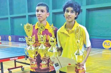Senura Silva (left) and Bimandee Bandara
