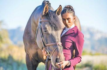 Matilda Karlsson with her horse