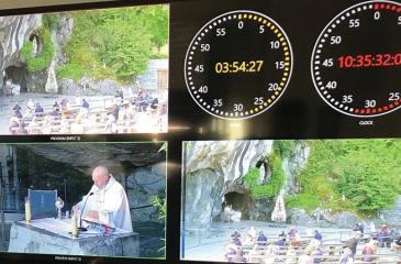 Twenty cameras follow the services at the sanctuary