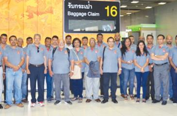 The PIM team on an overseas study tour