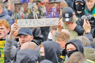 Manchester United fans protest against its ownership in dramatic scenes