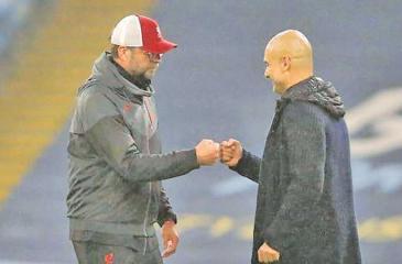Klopp (left) and Guardiola (right)