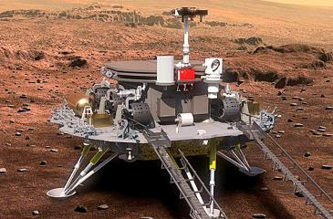 Artwork of the Zhurong robot: It's a daunting prospect landing on Mars