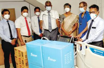 The biomedical equipment that was presented to the Gampaha General Hospital.