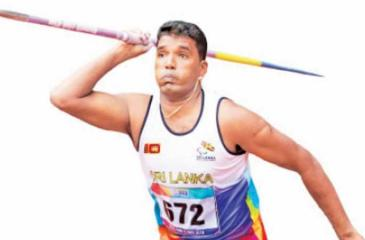 Priyantha Herath is going places since picking up the javelin after his left hand was disabled following gunshot wounds sustained during the war