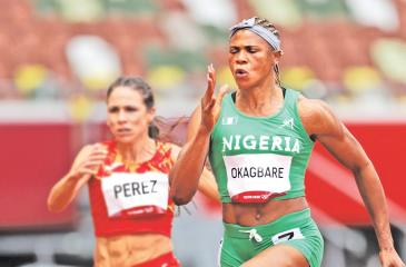 Blessing Okagbare: Was down to run in 100m semis