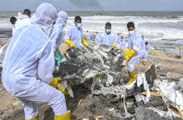 Debris from the ship threaten not only the beaches and seas which are home to sensitive ecosystems such as lagoons and coral reefs but also marine life.