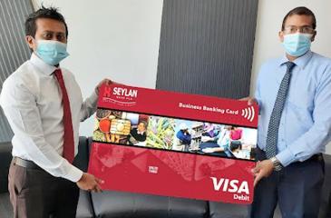 Head of Cards, Seylan Bank, Ruchith Liyanage (on left) with  Chief Operating Officer, Seylan Bank, Ramesh Jayasekara