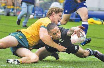 File picture of action between Australia and New Zealand