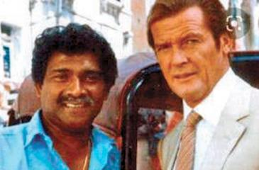 With British actor Roger Moore