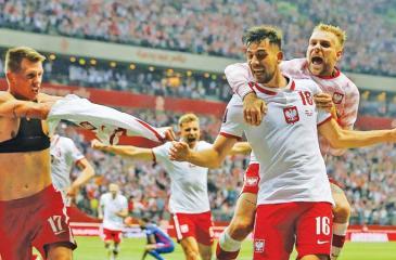 Poland players react after England thriller