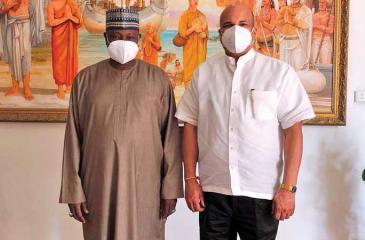High Commissioner-designate Moragoda with Ahmed Sule, High Commissioner, Nigeria