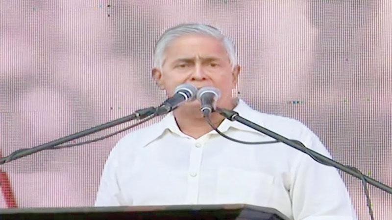 Sarath Silva at the JO meeting in December
