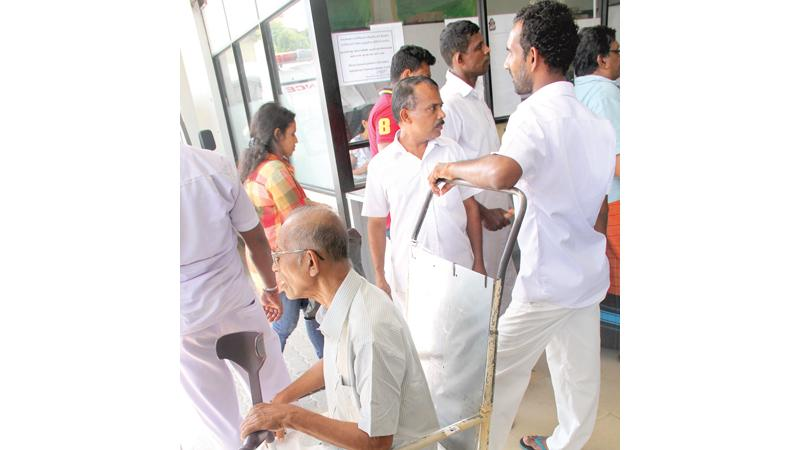 Work at a standstill in many offices - File pic