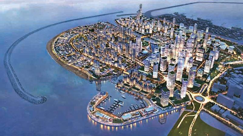 The Colombo Port City. A sketch of the project when completed