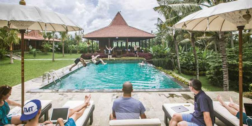 The word workation refers to a working vacation. In other words, working remotely while enjoying a vacation. As a recent Bloomberg documentary revealed, it is the latest travel trend.