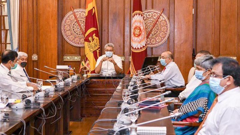President Gotabaya Rajapaksa addressing Central Bank officials