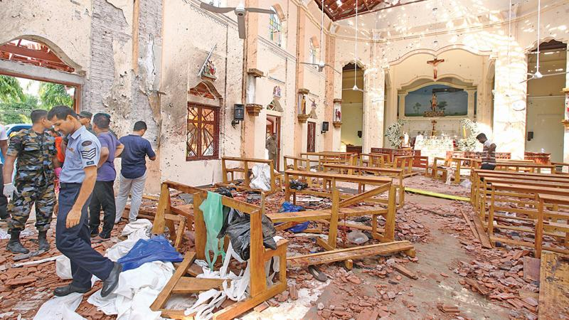 Destruction caused by the Easter Sunday attacks